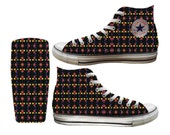 Party Dots Custom Printed Converse All Stars and Vans