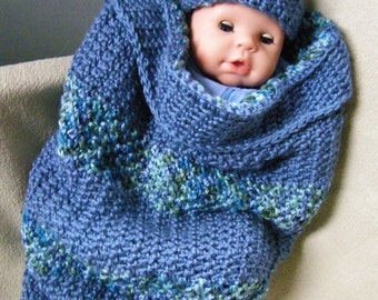 crochet baby soft cocoon