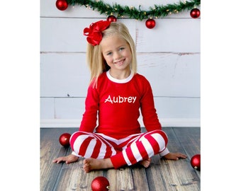 SALE!!! Personalized Christmas Pajamas - Family Christmas Pajamas - Matching Christmas Pajamas - Christmas Pajamas -  Striped Pajamas