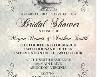 Tea Themed Bridal Shower Invitation, Printable