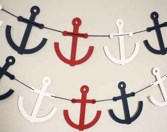 Anchor Garland -- Anchor Banner-- Nautical Banner-- Nautical Garland