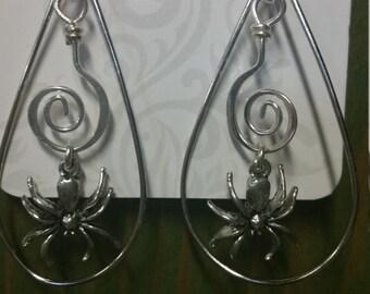 Spider Hoop Earrings