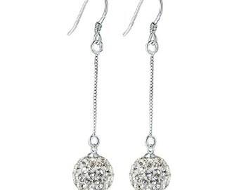 Crystal Earrings Balls Dangle Earrings