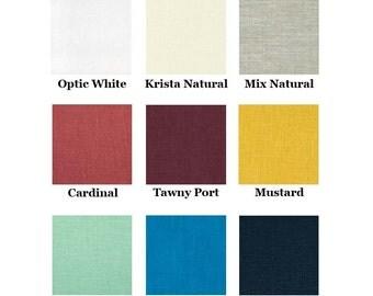 Choose Your Color - 100% Linen Straight Skirt Knee Length Drawstring Elastic - Tabitha Skirt