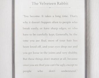 The Velveteen Rabbit - Wood Sign - Home Decor - Book Series