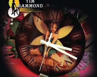 fairy with candle clock