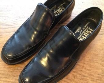 Barkers black slip on's. Size 7.
