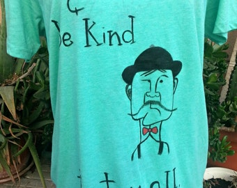 Hand painted t-shirt size XL
