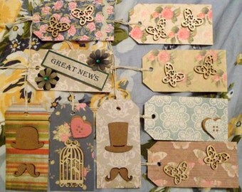 Assortment of Gift Tags - Set of 9 - All Occasions