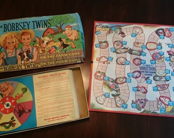 Vintage The Bobsey Twins On The Farm Game/Vintage Milton Bradley Game/1957/Great for a Crafting Project