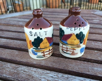 Jugs Salt & Pepper Shakers, Set, Made In Japan