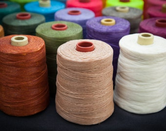 600meter spool, Waxed cotton macrame cord 1mm thick.