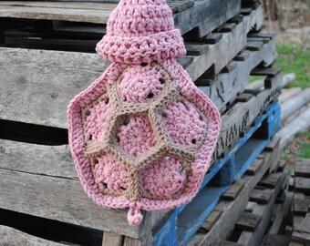 Crochet Newborn Baby Girl Hatchling Turtle Cuddle Cape Set Photography Prop