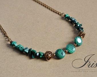 Malachite green necklace