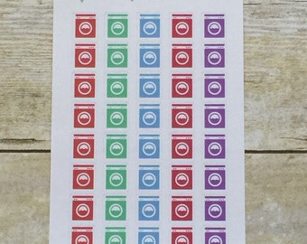 Washing Machine Planner Stickers Laundry Cleaning Chores Reminders bx10