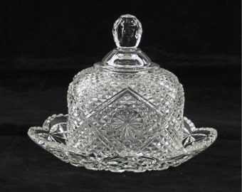 Imperial or Avon Domed Glass Butter Dish