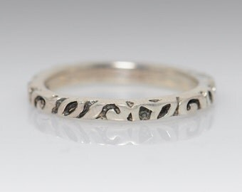 Intricate Sterling Silver Band - Size 8