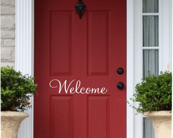 Vinyl Front Door Welcome Decal