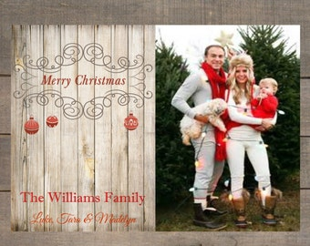 Rustic Christmas Photo Card, Christmas Photo Card,  Christmas Card, Holiday Card, Holiday Photo Card, Custom Holiday Greeting Card