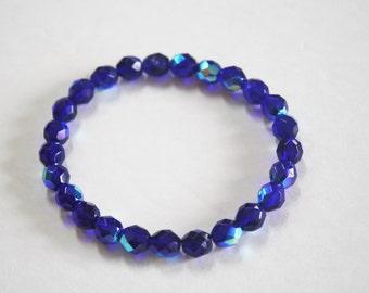 Cobalt Aurora Borealis Bracelet, Aurora Borealis, Crystal Bracelet, Cobalt Bracelet, Blue Bracelet, Blue Crystal Bracelet