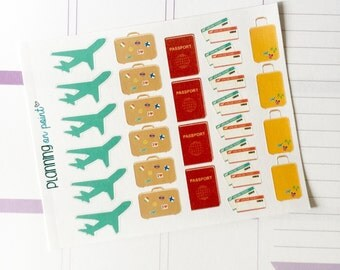 Traveling Flying Planner Stickers!