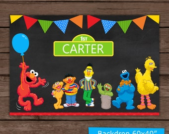 Sesame Street Backdrop / Digital File / Backdrop / Printable