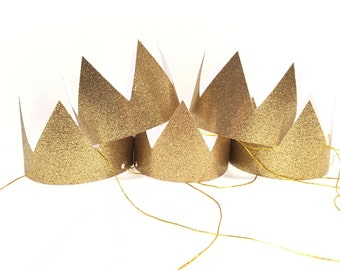 Gold Party Hats Mini Party Crowns