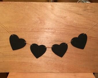 Chalkboard heart decoration.