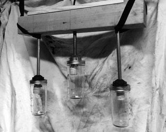 3 light mason jar fixture