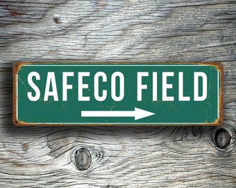 SAFECO FIELD SIGN, Vintage style Safeco Field Sign, Safeco Field Signs, Seattle Mariners, Baseball Signs, baseball Gifts, Mariners Signs
