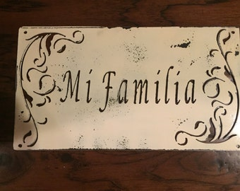 Mi Familia Metal Sign