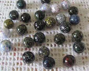 Vintage 30 #2 speckled beads