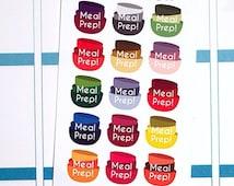 Meal Prep Planner Stickers for Erin Condren, Happy Planner, Filofax, Scrapbooking