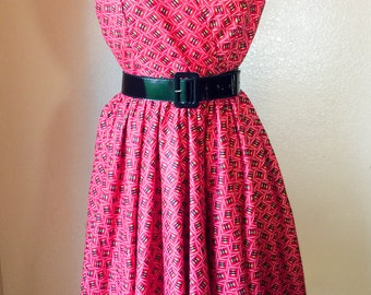 African print cross-over dress