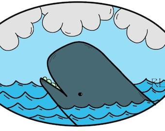 Whale print.