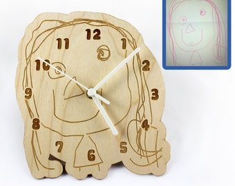 Wall Clock made from YOUR child's Artwork
