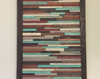 Wood Wall Art -Wall Art Wood - Modern Wood Wall Art - Wall Decor - Art Sculpture