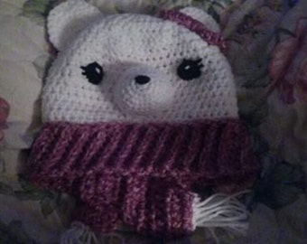 Pretty Polar Bear Hat--crochet