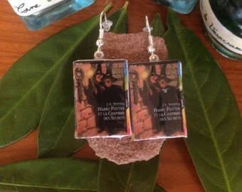 """Earrings books """"Harry Potter and the Chamber of secrets"""""""