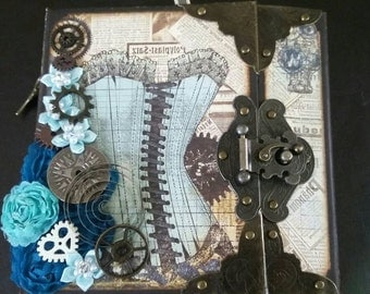 BoBunny Somewhere In Time Steampunk Mini Album