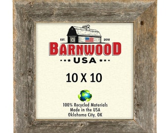barnwood usa rustic wood picture frame 10x10 weathered gray 2 wide molding photo frames