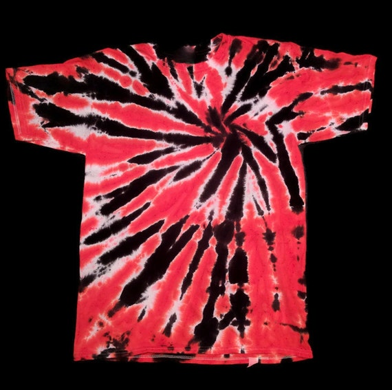 Tie Dye Shirt Red Black Color Burst Tie Dye By Mountainloafers