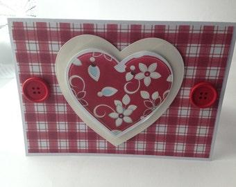 Love Hearts Handmade Card