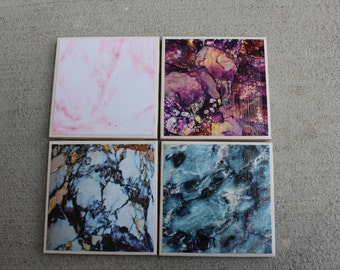 Marble Tile Coaster