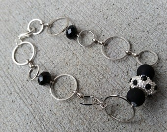 Black and Silver Circles Bracelet