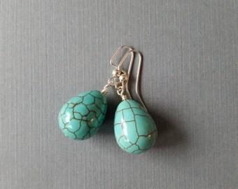 Turquoise Magnesite Drops