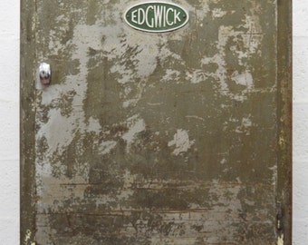 Mid-Century Vintage Retro Industrial Metal Cabinet by Edgwick