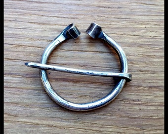 Silver Penannular Viking Brooch / Cloak Pin
