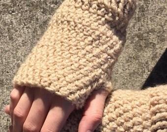 Crochet Fingerless Mittens--Gloves