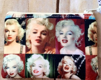 Marilyn Monroe zippered pouch/ coin purse/ coin pouch